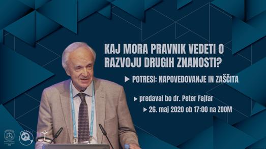 Predavanje zasl. prof. dr. Petra Fajfarja: Potresi: napovedovanje in zaščita