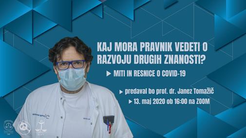 Predavanje prof. dr. Janeza Tomažiča: Miti in resnice o COVID-19
