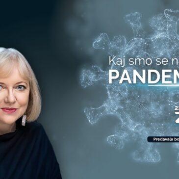 Predavanje prof. dr. Renate Salecl: Kaj smo se naučili od pandemije?