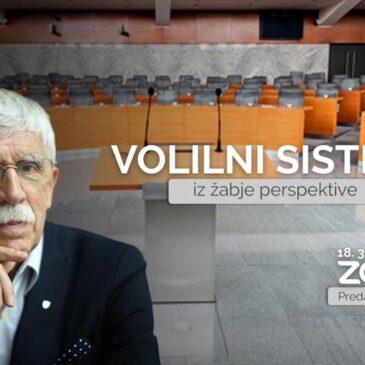 Predavanje zasl. prof. dr. Cirila Ribičiča: Volilni sistem iz žabje perspektive